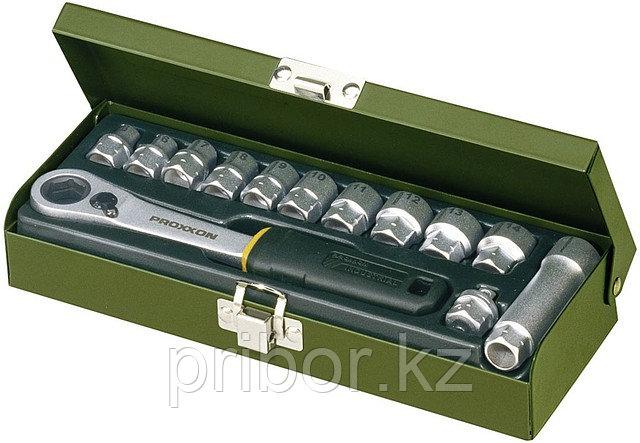 23602 Proxxon Набор головок, 13 предметов от 5,5 до 14 мм