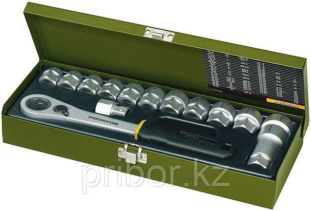 23604 Proxxon Набор головок 14 предметов, от 13 до 27 мм