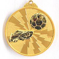 Медаль рельефная ФУТБОЛ (золото), фото 1