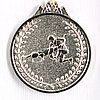 Медаль рельефная БОРЬБА (серебро)