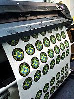 Интерьерная печать наклеек и стикеров: с резкой по контуру