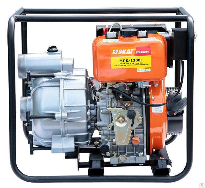 Мотопомпа дизельная для перекачки загрязненной воды МПД-1200Е