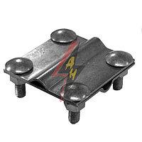 Крестообразное соединение  4xM8x25, две пластины, B do 40 mm, проволка  Ø 5-12 mm, серия Silver