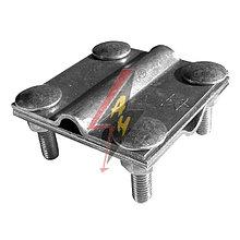 Крестообразное соединение  4xM8x25, три пластины, B do 30 mm, проволка Ø 5-12 mm,серия Silver