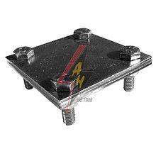 Крестообразное соединение  4xM8x25, три пластины, B do 50 mm, серия Silver