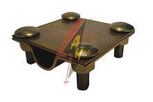 Крестообразное соединение  4xM8x25, две пластины, B do 40 mm, проволка / пруток  Ø 14-20 mm, серия Gold