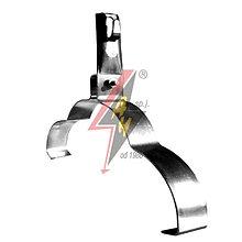 Коньковые держатели H=8 cm, проволока Ø 5-8 mm, серия Silver