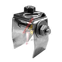 Держатель на металлический лист H=7 cm, B от 4 до 6 cm, проволока Ø 5-10 mm, сталь нерж.