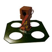 Держатель с крепежом на клей H=4 cm, проволока Ø 6-8 mm, серия Platinium