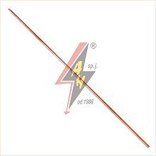Складной заземлитель - замок конический (Morse'a)/замок цилиндрический Ø 18x1500 mm, 3,0 кг –100 µm (полного)