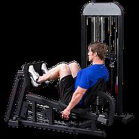Жим ногами горизонтальный с весовым стеком 95 кг (GLP-STK)