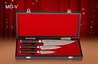 """Набор из 3 ножей в подарочной коробке """"Поварская тройка"""" Samura Mo-V"""