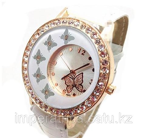 """Часы женские наручные """"Бабочки"""" белые"""