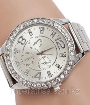 """Часы наручные женские """"Золотое время"""" серебряные"""