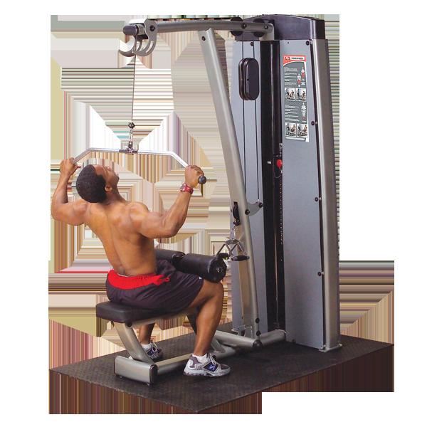 Двухпозиционный тренажер для спины: вертикальная \ горизонтальная тяга с весовым стеком 95 кг (DLAT-SF
