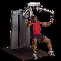Двухпозиционный тренажер для грудных и дельтовидных мышц с весовым стеком 95 кг (DPEC-SF)