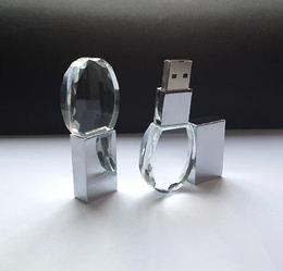 Флешка стекло 4 гб (круглая)