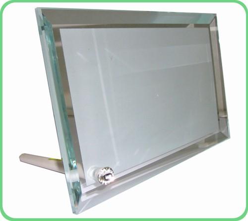 Стеклянная фоторамка для сублимации (BL-05),размер: 180х230х10мм