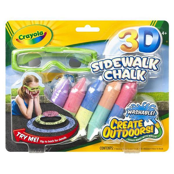 Crayola Цветные мелки для асфальта с 3D-эффектом, малый набор