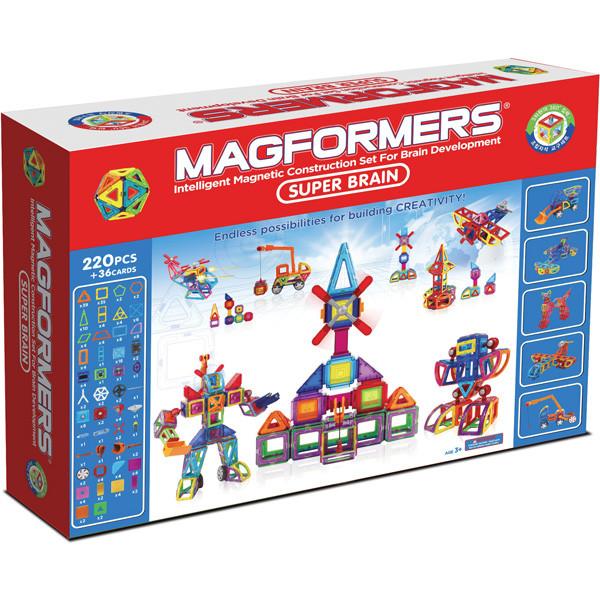 Magformers Магнитный конструктор Набор Super Brain Set из 220 элементов