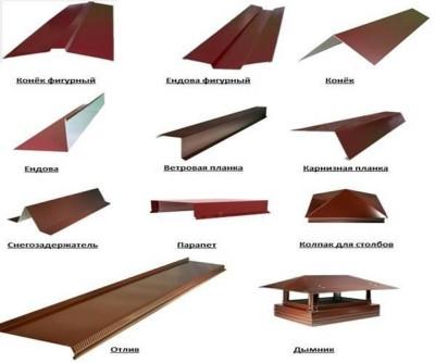 Элементы отделки для металлочерепицы