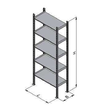 Стеллажи металлические складского типа