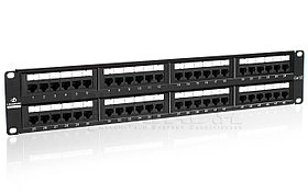 "LinkBasic PND48-UC5E Коммутационная панель  5e кат., UTP 19"", 2U, 48хRJ45"
