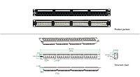 "LinkBasic  PND24-UC6 Коммутационная панель  6 кат., UTP 19"", 1U, 24хRJ45"