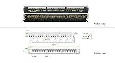 "LinkBasic  PNA24-SC6 Коммутационная панель Linkbasic PNA24-SC6  6 кат., FTP 19"", 1U, 24хRJ46"