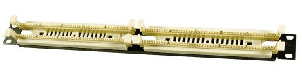 """LinkBasic  WB100-A4 110 Кроссовая панель типа  19"""", 1U, 100-парная"""