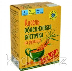 Кисель овсяно-льняной на фруктозе ОБЛЕПИХОВАЯ КОСТОЧКА 150 г (Компас здоровья)