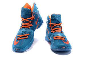 Nike Lebron 13 (XllI) баскетбольные кроссовки Blue Orange, фото 2