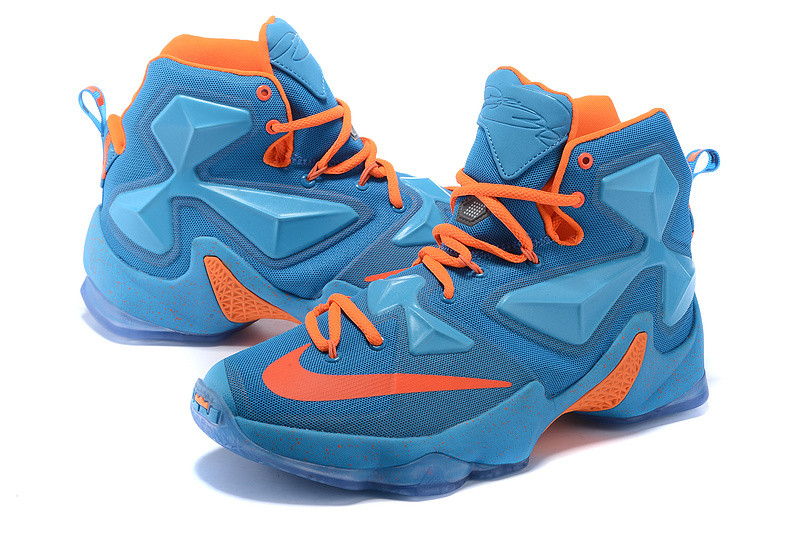 Nike Lebron 13 (XllI) баскетбольные кроссовки Blue Orange