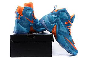 Nike Lebron 13 (XllI) баскетбольные кроссовки Blue Orange, фото 3