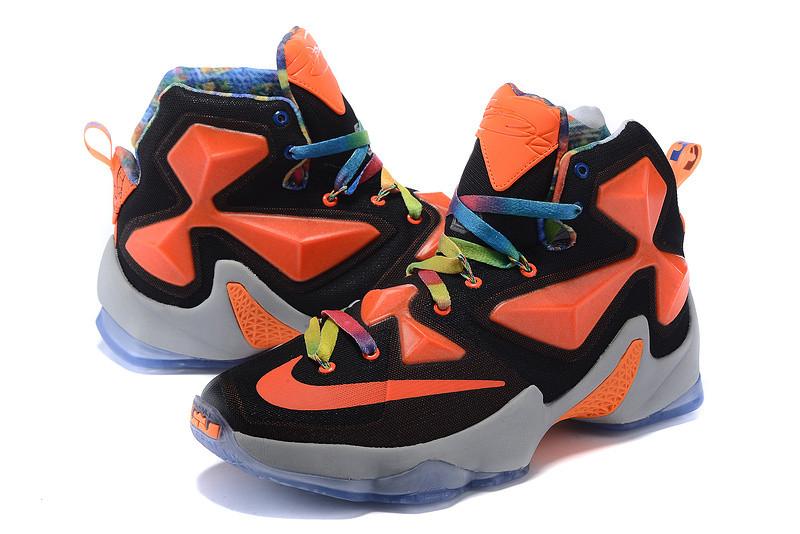 Nike Lebron 13 (XllI) Black and Orange баскетбольные кроссовки