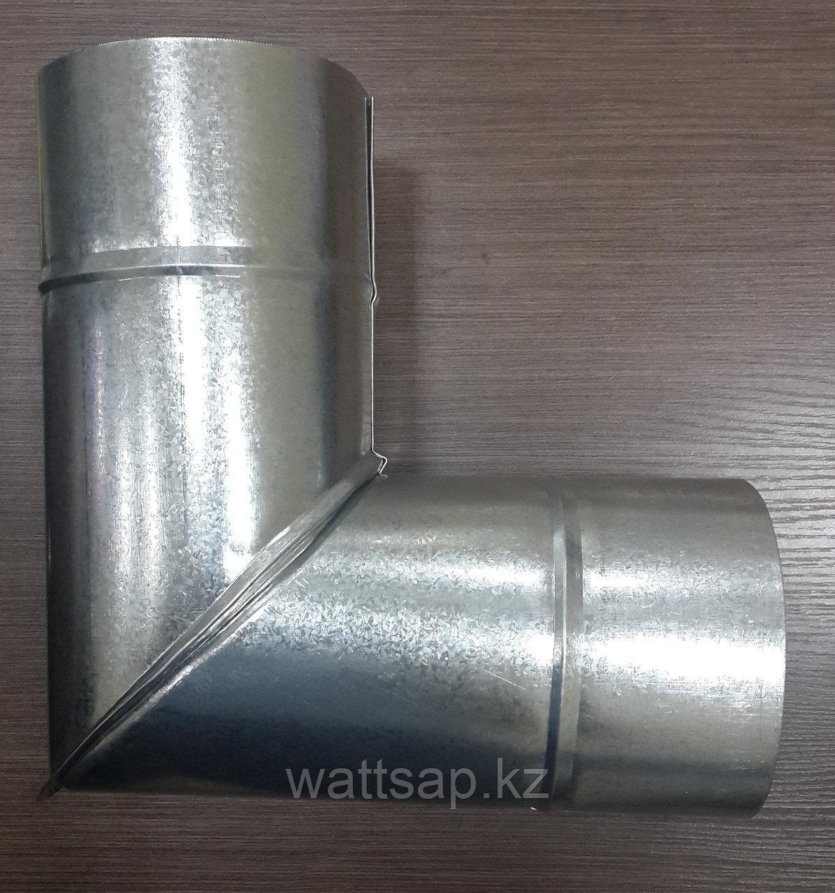 Отвод 90 из оцинкованной стали L90-150, 0,5 мм