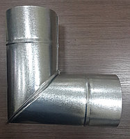 Отвод 90 из оцинкованной стали L90-120,0,5 мм