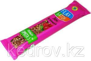 Флакс-батон на фруктозе КЛЮКВА (полезная сладость) 30 г (Компас здоровья)