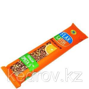 Флакс-батон на фруктозе АПЕЛЬСИН (полезная сладость) 30 г (Компас здоровья)