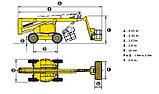 Коленчатая самоходная дизельная вышка HA20PX, фото 5