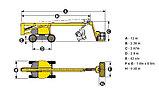 Коленчатая самоходная дизельная вышка HA260PX, фото 4