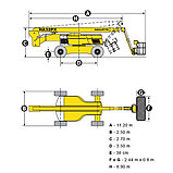 Б/у Коленчатая самоходная дизельная вышка HA32PX, фото 8