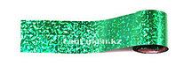 Фольга для ногтей, переводная фольга зеленая