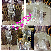 Манекен кукла женская, зеркально -прозрачный-кристалл
