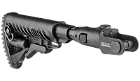 Fab defense Приклад телескопический, складной FAB-Defense M4-AKMS P SB с компенсатором отдачи