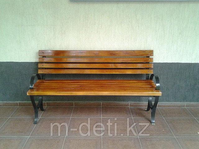 Скамейка со спинкой, скамья парковая, скамейка уличная Купить