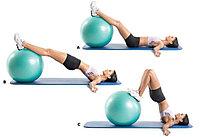 Результативные упражнения для тонуса и похудения на фитболе