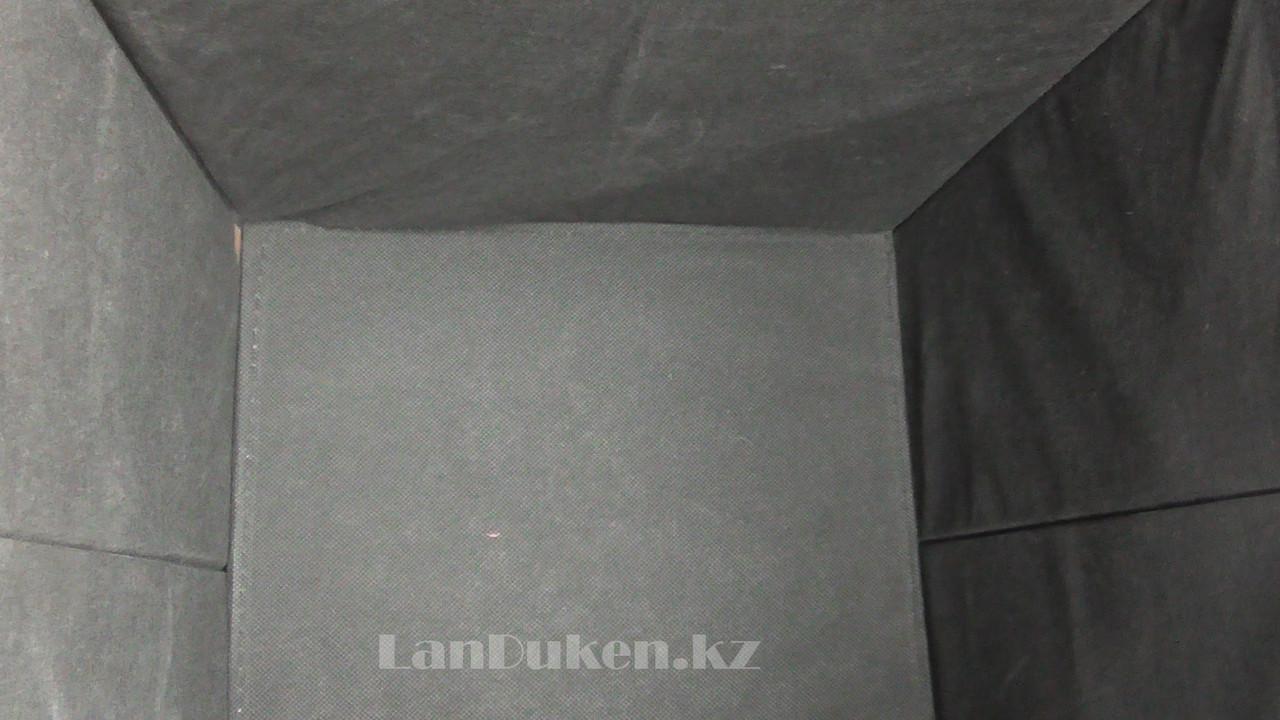 Пуфик органайзер складной сиреневый с сердечками (A) 31* 29* 28 см - фото 6