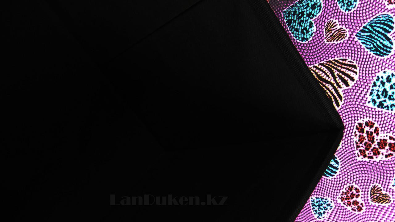 Пуфик органайзер складной сиреневый с сердечками (A) 31* 29* 28 см - фото 4