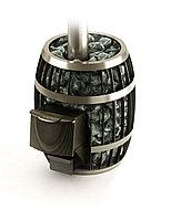 Дровяная печь Саяны Carbon Витра с закрытой каменкой.Объем парилки куб.м.:8-18.